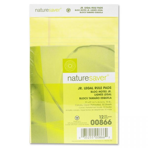 Nature Saver 100% Recycled Junior Legal Pads