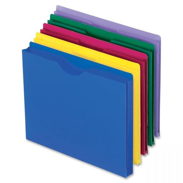 Oxford Translucent Poly File Jackets