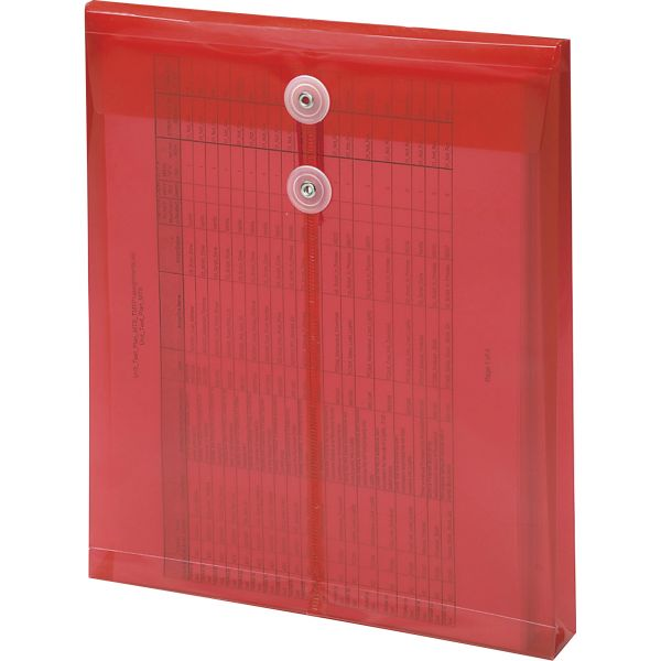 Smead 89547 Red Poly Envelopes