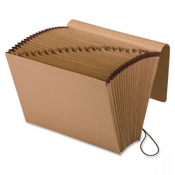 Pendaflex Kraft Indexed Expanding File, 21 Pockets, Kraft, Legal, Brown