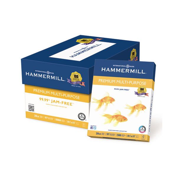 Hammermill Premium Multi-Purpose White Copy Paper