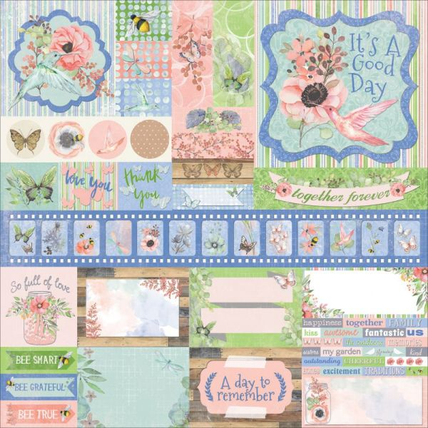 "Butterfly Kisses Combo Stickers 12""X12"""