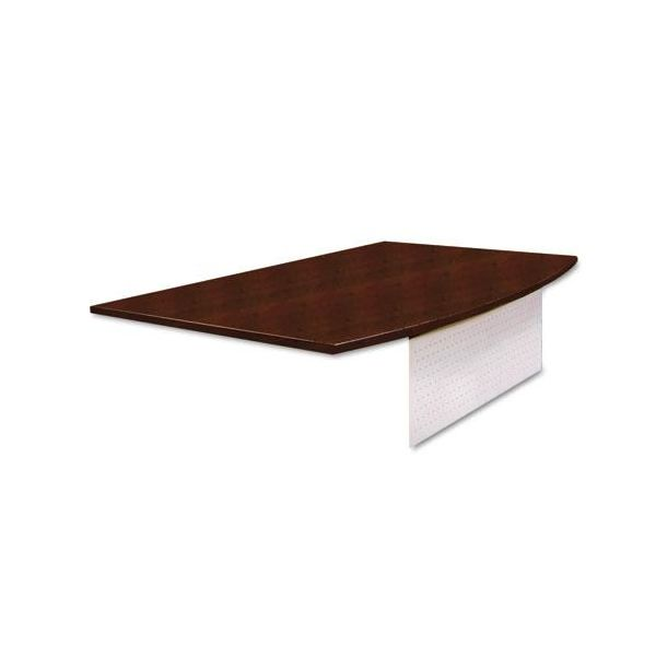 Tiffany Industries Eclipse Series Bow Front Desk Top With Modesty Panel, 72w x 40d, Warm Cherry
