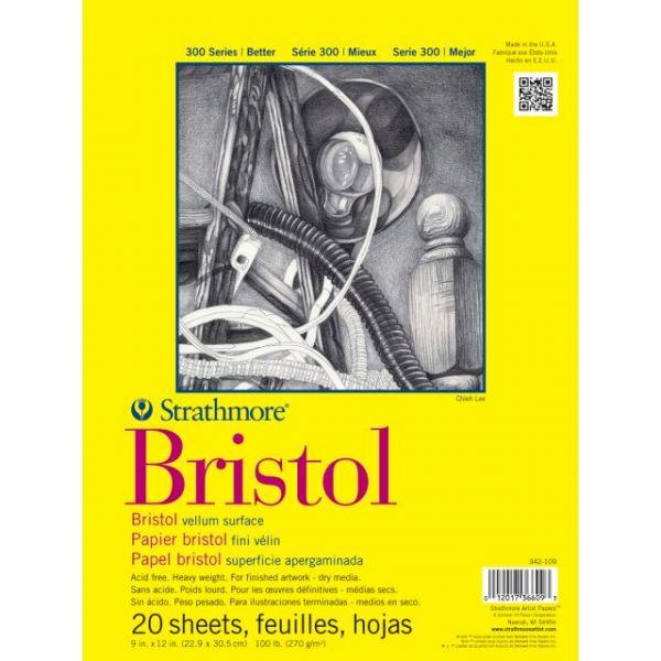 """Strathmore Bristol Vellum Paper Pad 9""""X12"""""""