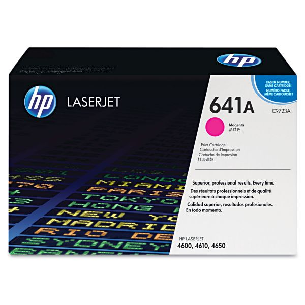 HP 641A, (C9723A) Magenta Original LaserJet Toner Cartridge