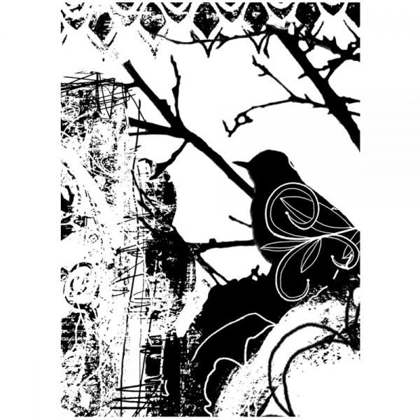 "Joggles Cling Stamp 3.25""X4.5"""