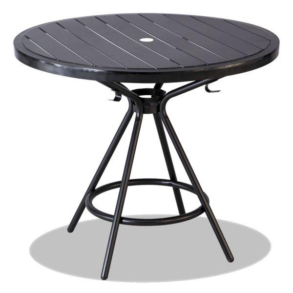 "Safco CoGo Tables, Steel, Round, 36"" Diameter x 29 1/2"" High, Black"