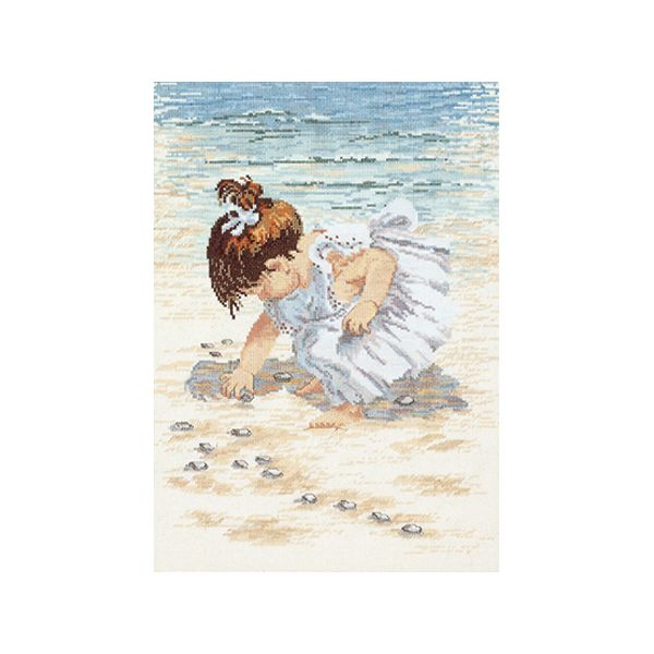 Janlynn Collecting Shells Counted Cross Stitch Kit