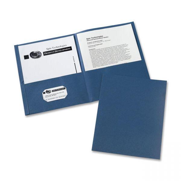 Avery Dark Blue Two Pocket Folders