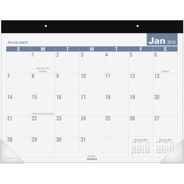 At-A-Glance E-Z Read Monthly Desk Pad Calendar