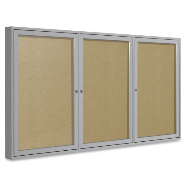 Ghent 3-Door Enclosed Vinyl Bulletin Board