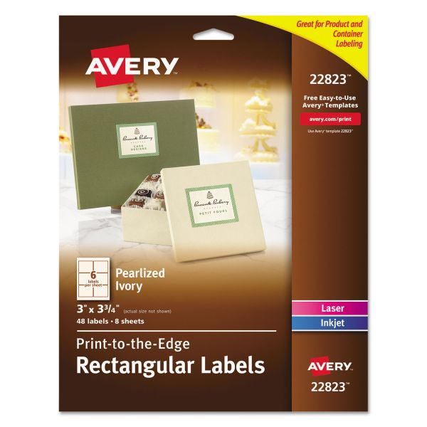 Avery Print To The Edge Rectangular Labels