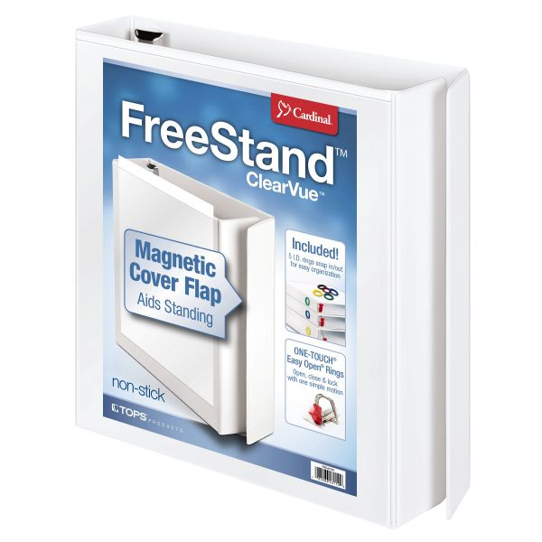 "Cardinal FreeStand 1 1/2"" 3-Ring View Binder"