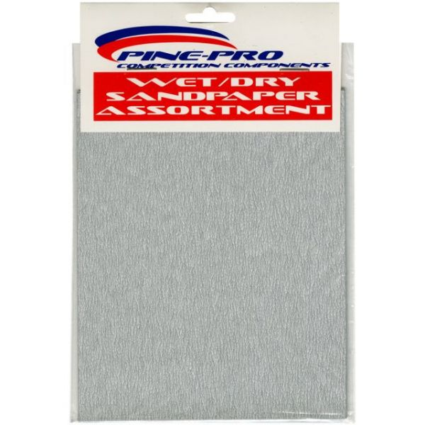 Pine Car Derby Wet/Dry Sandpaper Assortment