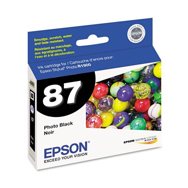 Epson T087120 (87) UltraChrome Hi-Gloss 2 Ink, Black