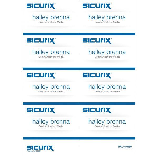 SICURIX Name Badge Kit Insert