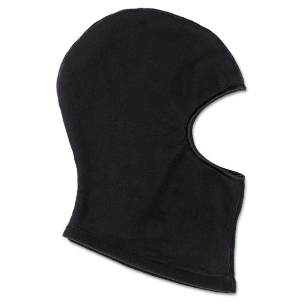 ergodyne Balaclava, Fleece, Black, One Size Fits All