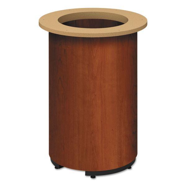 "HON Laminate Cylinder Table Base, 18"" dia. x 28h, Cognac"