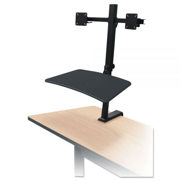 BALT Up-Rite Rear Mounted Sit-Stand Workstation, Double, 27 5/8 x 30 x 42, Black