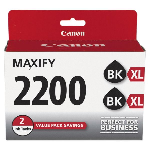 Canon PGI-2200XL Black High-Yield Ink Cartridges (9255B006)