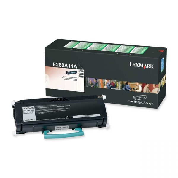 Lexmark E260A11A Black Return Program Toner Cartridge