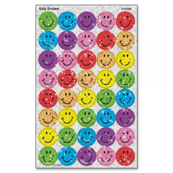 Trend Sparkle Silly Smiles superSpots Stickers