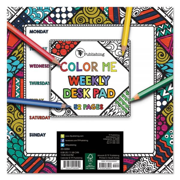 TF Publishing Color Me Undated Weekly Desk Pad