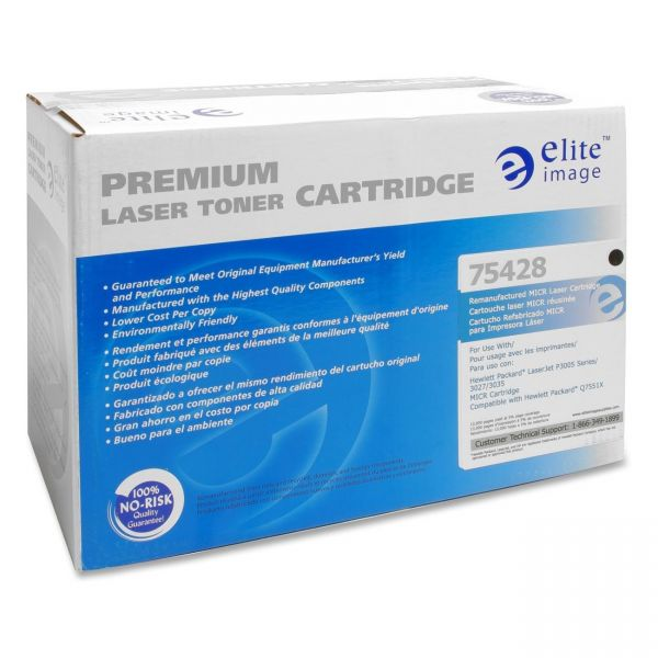 Elite Image Remanufactured HP 51X (Q7551X) High Yield MICR Toner Cartridge