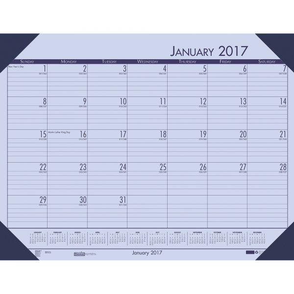 House of Doolittle Compact Nonrefillable Monthly Desk Pad Calendar