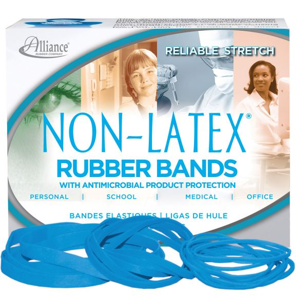 Alliance Rubber #54 Antimicrobial Latex-Free Rubber Bands (1/4 lb)