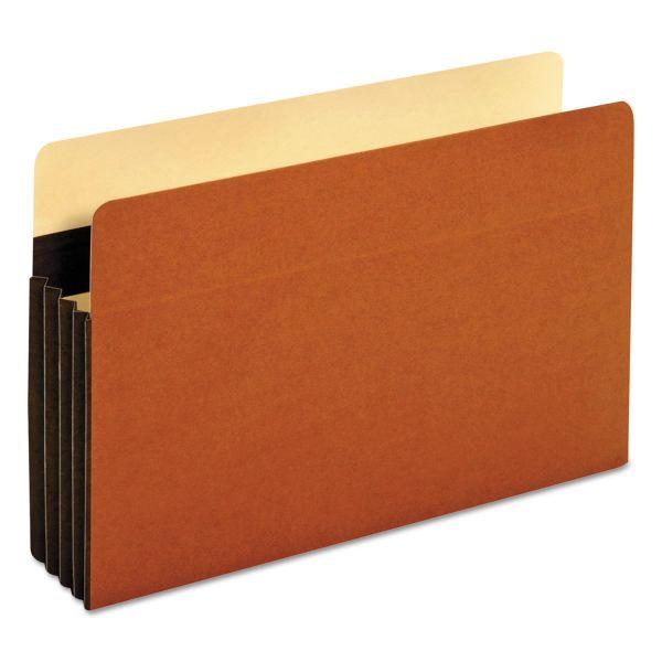 Pendaflex Heavy-Duty File Pockets, Straight Cut, 1 Pocket, Legal, Redrope