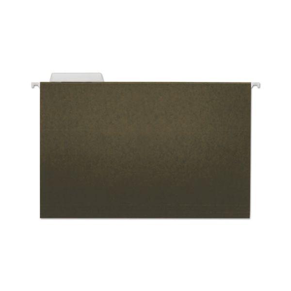 Universal Hanging File Folders, 1/3 Tab, 11 Point Stock, Legal, Standard Green, 25/Box