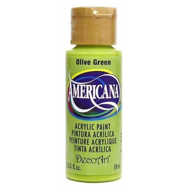Deco Art Olive Green Americana Acrylic Paint