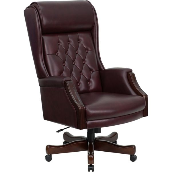 Flash Furniture Traditional Tufted Executive Swivel Office Chair