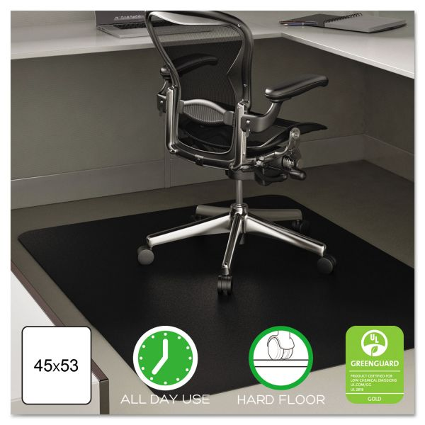 deflecto EconoMat Anytime Use Black Chair Mat