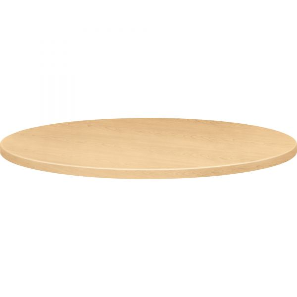 "HON Self-Edge Round Hospitality Table Top, 42"" Diameter, Natural Maple"
