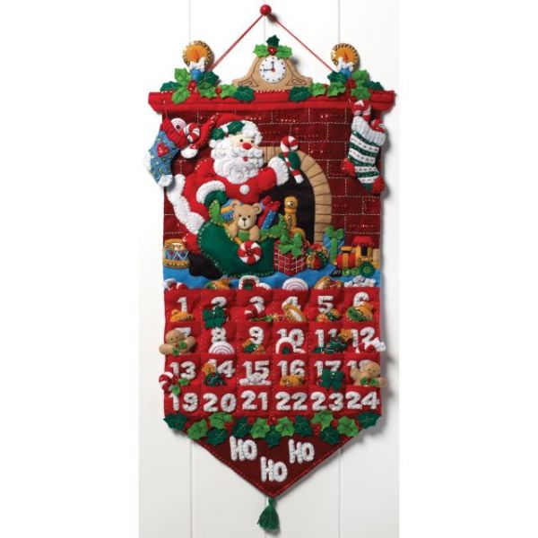 Must Be Santa Advent Calendar Felt Applique Kit