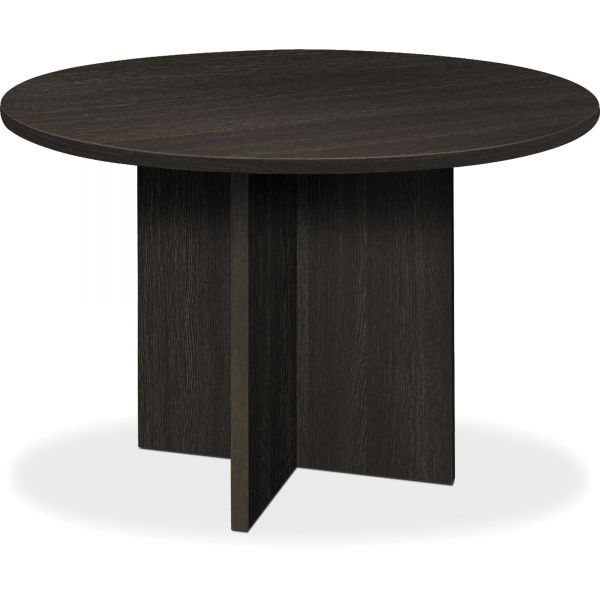 basyx BL Laminate Series Round Conference Table, 48 dia. X 29 1/2h, Espresso