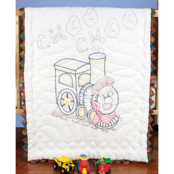 """Stamped Baby Quilt Top 36""""X50"""""""