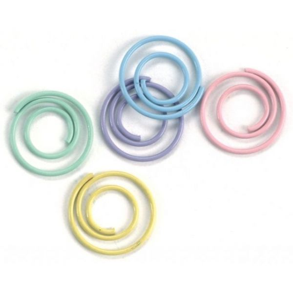 "Mini Painted Metal Spiral Clips .5"" 25/Pkg"