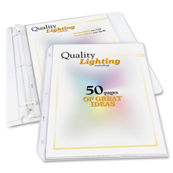 C-Line Top Loading High Capacity Polypropylene Sheet Protectors, Letter, Heavyweight, Clear, 25/Box