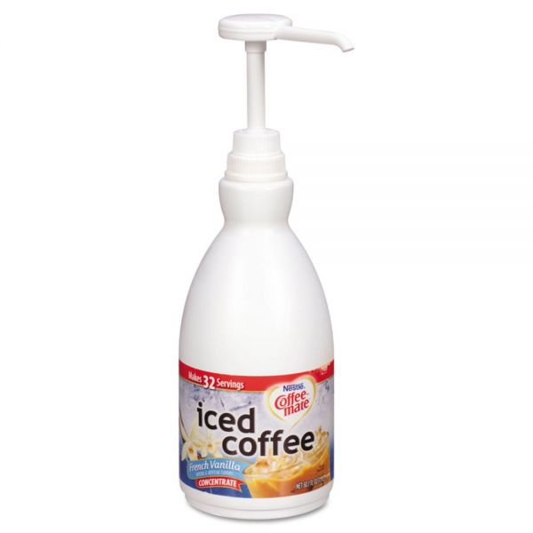 Coffee-mate Concentrated Iced Coffee, French Vanilla, 1.5 L Pump Bottle