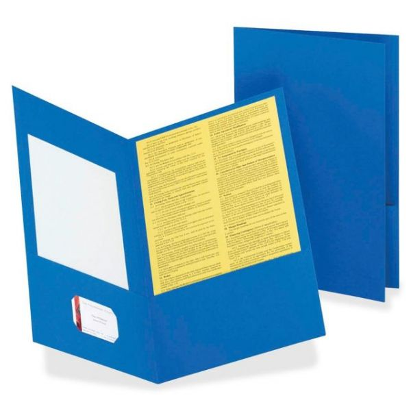 Esselte Light Blue Two Pocket Folders
