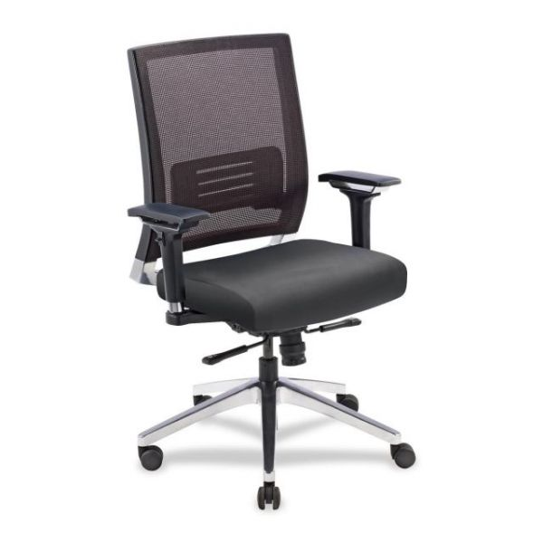Lorell Lower Back Swivel Executive Mesh Office Chair