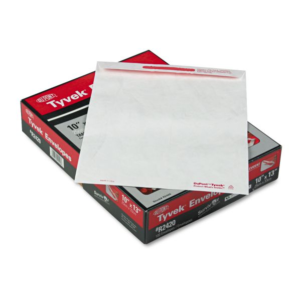 "Quality Park 10"" x 13"" Tamper-Indicating Tyvek Envelopes"