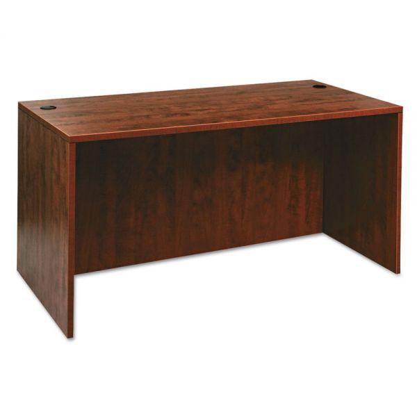 Alera Valencia Series Desk Shell, 60w x 30d x 29-1/2h, Medium Cherry