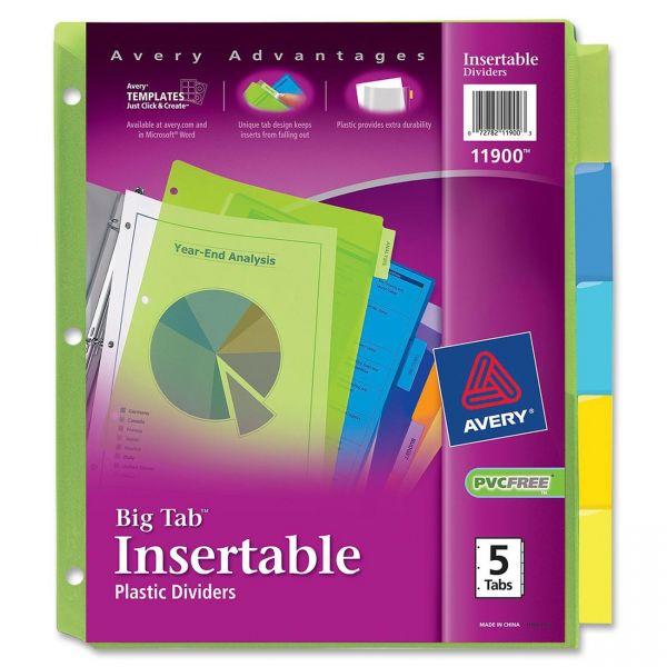 Avery Big Tab Insertable Tab Index Dividers