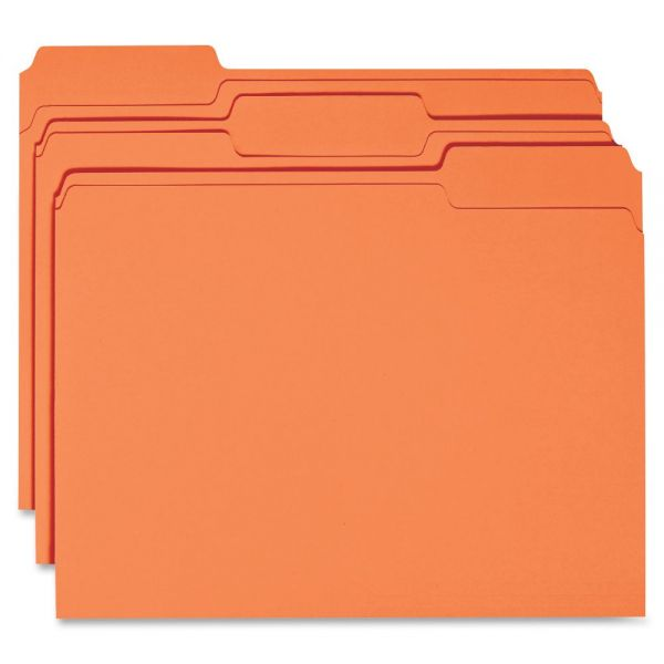 Business Source Orange Colored File Folders