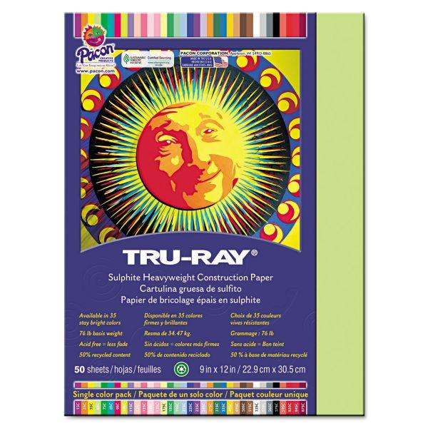 Tru-Ray Green Construction Paper