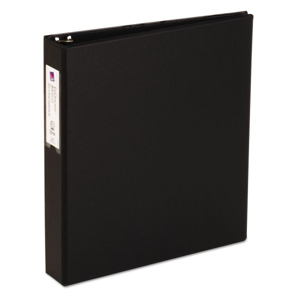 "Avery Economy Non-View 3-Ring Binder, 1 1/2"" Capacity, Round Ring, Black"